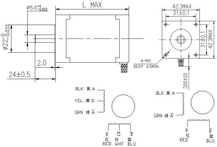 Nema 17 step motor adim motorlar elektrovadi for Nema 17 motor specs
