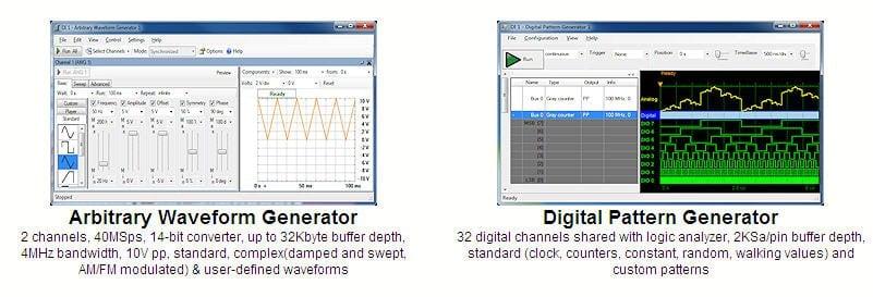 analog discovery 2 arbitrary dalga üretici ve dijital patern üreteci